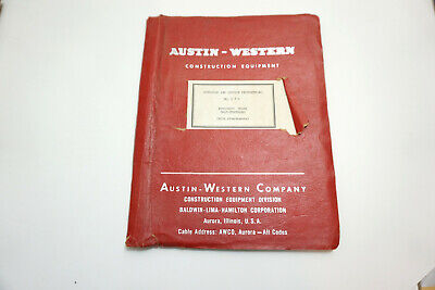 Austin Western Operating And Service Instructions Manual No 580 Hydraulic Crane