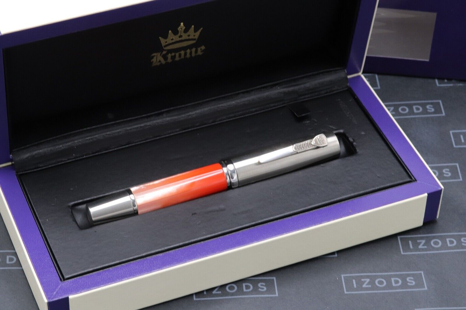 Krone Gradient Coral Red Limited Edition Fountain Pen 8