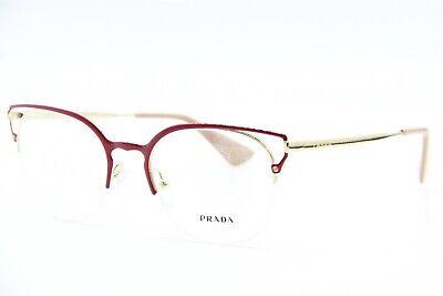 NEW PRADA VPR 64U LFA-1O1 RED GOLD EYEGLASSES AUTHENTIC FRAMES RX VPR64U (Prada Red Eyeglass Frames)