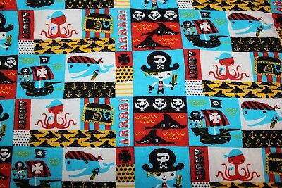 Cotton Flannel Pirate Theme Print 45