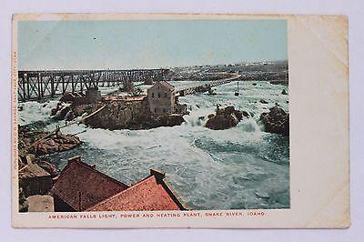 Udb Postcard American Falls Light  Power   Heating Plant  Snake River Idaho 1906