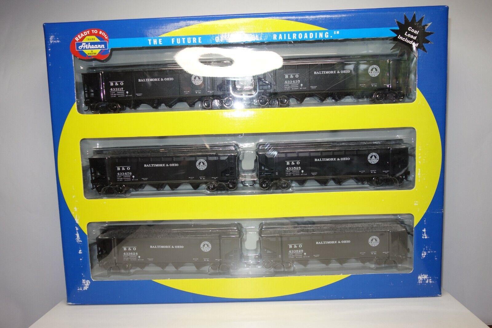 Athearn Wagen-Set Baltimore & Ohio 40´Quad Hopper  (92778)
