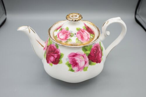 Royal Albert Old English Rose Mini Teapot and Lid FREE USA SHIPPING CHIP AS IS