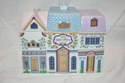 The Lenox Village Recipe Box Vintage Fine Porcelain 1994 Excellent Condition