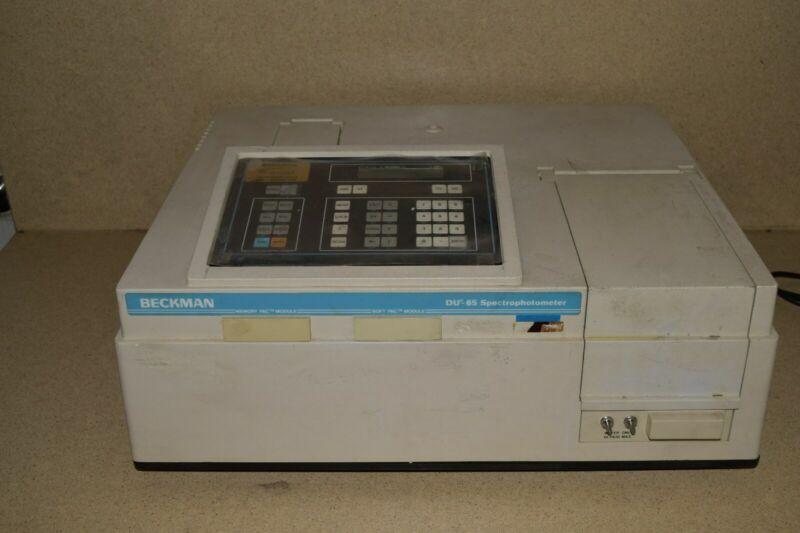 BECKMAN COULTER DU-65 SPECTROPHOTOMETER