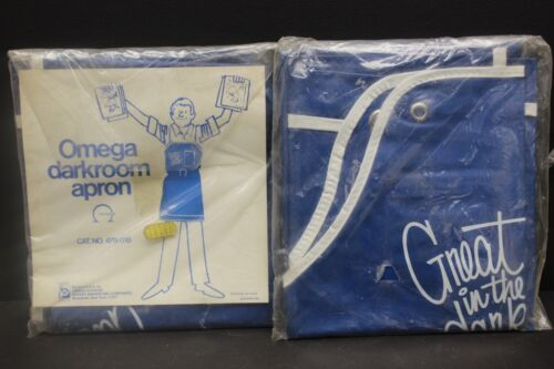 """Omega Darkroom Apron Made In USA 28"""" x 34"""" new old stock #479-018"""