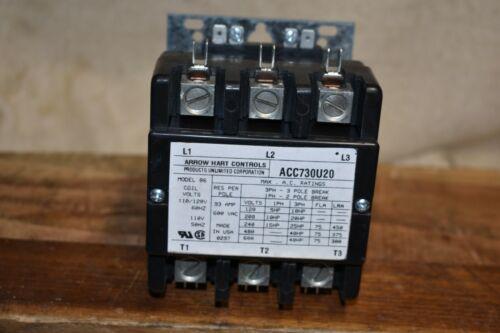 Arrow Hart Controls ACC730U20 Contactor New