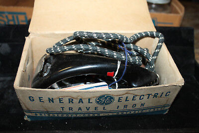 Vintage General Electric GE Travel Iron Original Box Pouch 139F18