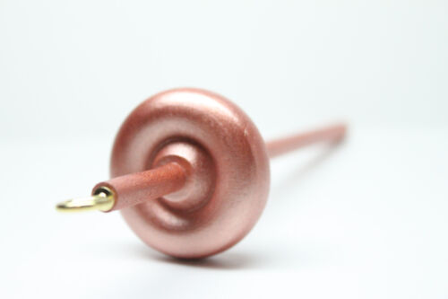 Rose Gold Mini Top or Bottom Whorl Drop Spindle - On The Go and Learn to Spin