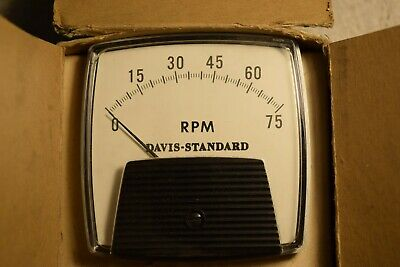 Ge 2503 Panel Meter Davis-standard General Electric 75 Rpm