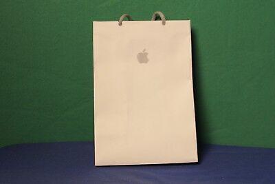 Genuine Apple Store Small White Paper Shopping Bag W Knit Handle 11 X 8 W Logo