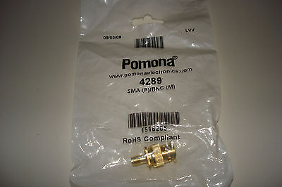 Pomona 4289 Adapter Sma Female To Bnc Male New In Bag