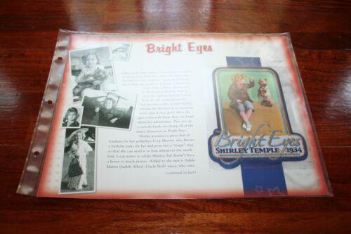 Shirley Temple patch Willabee Ward emblem memorabilia Bright Eyes 1934