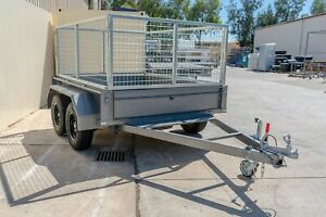 8x6 Tandem Box Caged Trailer - 3200kg ATM Pooraka Salisbury Area Preview
