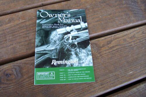 Remington Model XR100 Rangemaster Instruction manual Original