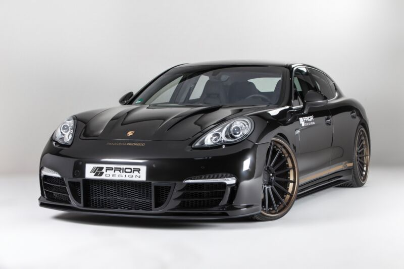 Porsche Panamera 970 Body Kit Front Bumper With Lip Spoiler Splitter S Turbo+v6