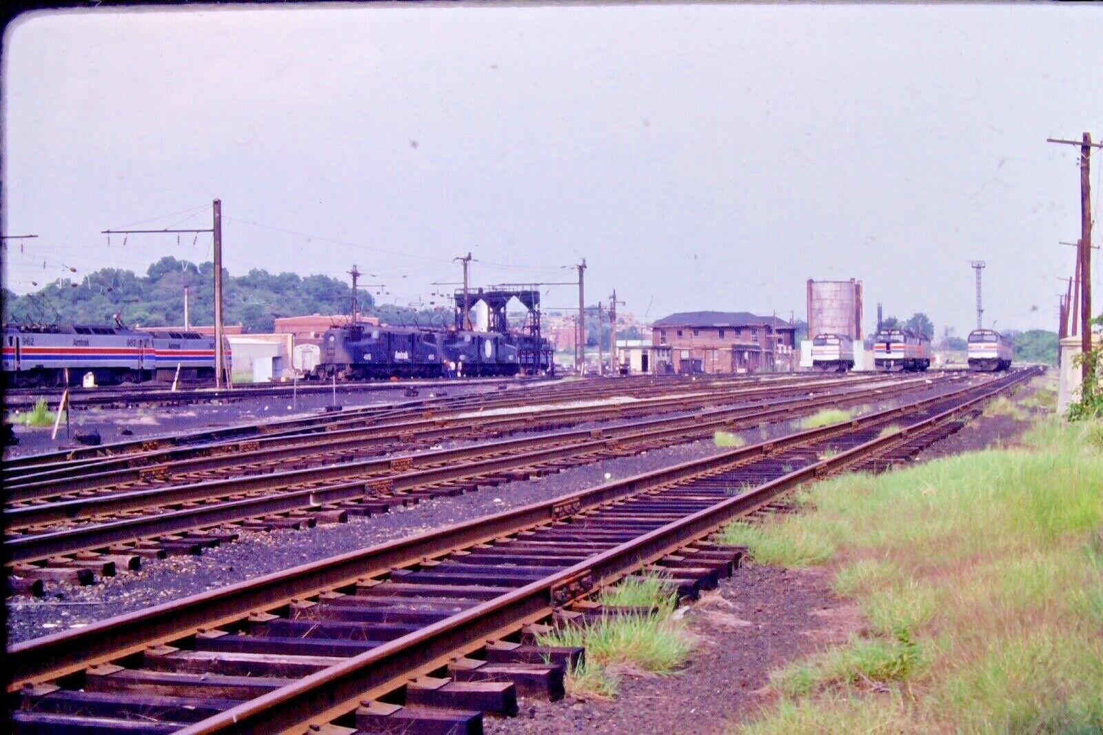 Kodachrome Slide Amtrak Diesels and Electrics Washington, DC  (1979) #CC710
