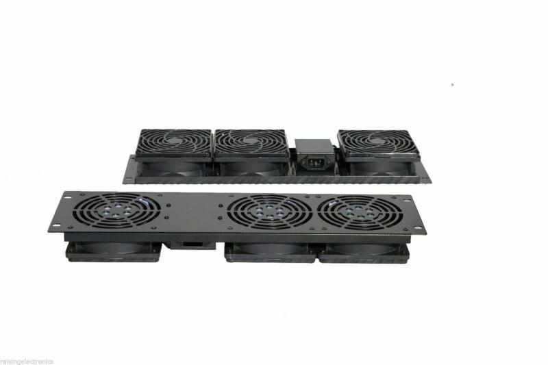 "19"" Rack Mount Cooling Fan System 3U Panel with 3 Fan Units"