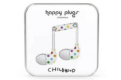 Happy Plugs Earbud Earphones Headphones With Mic & Remote - Childhood Edition