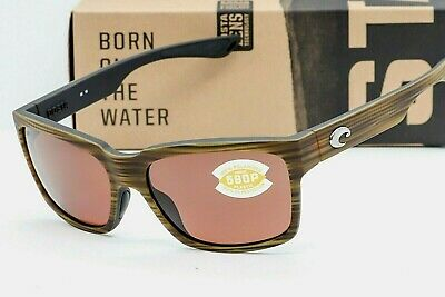 NEW COSTA DEL MAR PLAYA SUNGLASSES Matte Verde Teak/Black / Copper 580P (Costa Playa Sunglasses)