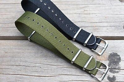 Canvas Watch Band Strap Nylon 20mm Lot Of 2 For ALL BRANDS JCrew TIMEX Weekender