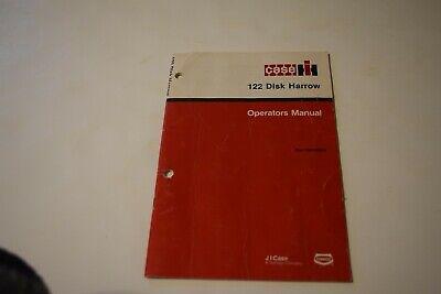 Case Ih 122 Disk Harrow Operators Manual