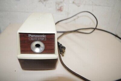 Panasonic Auto-stop Electric Pencil Sharpener Kp-100 Vintage - Tested Table Desk