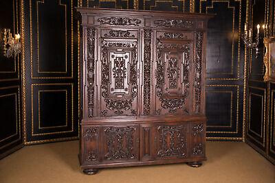 Original Antique Neo Renaissance Baroque Wardrobe 19. Century