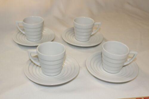 4 FRANK LLOYD WRIGHT KRUPS Guggenheim Demitasse Espresso cup and saucer 1998
