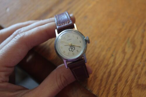Girls Watch TIMEX Vintage Girl Scouts logo with small Burgundy red band