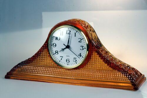 McKee Daisy & Button Tambour Depression Glass Shelf Clock - REDUCED to $115