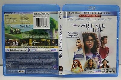 A Wrinkle in Time (Blu-Ray/DVD) FREE Ship Oprah Witherspoon Kaling No Digital](Spooky In Spanish)