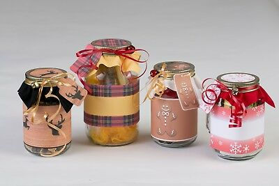 DIY Mason Jar Gift Craft Kits by Create Joy 12 Deck the Jars Theme - Diy Mason Jar Gifts