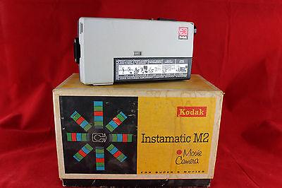 Vintage Lot Kodak Super 8 Instamatic M2 Camcorder & Kodak Model 1 Light Untested