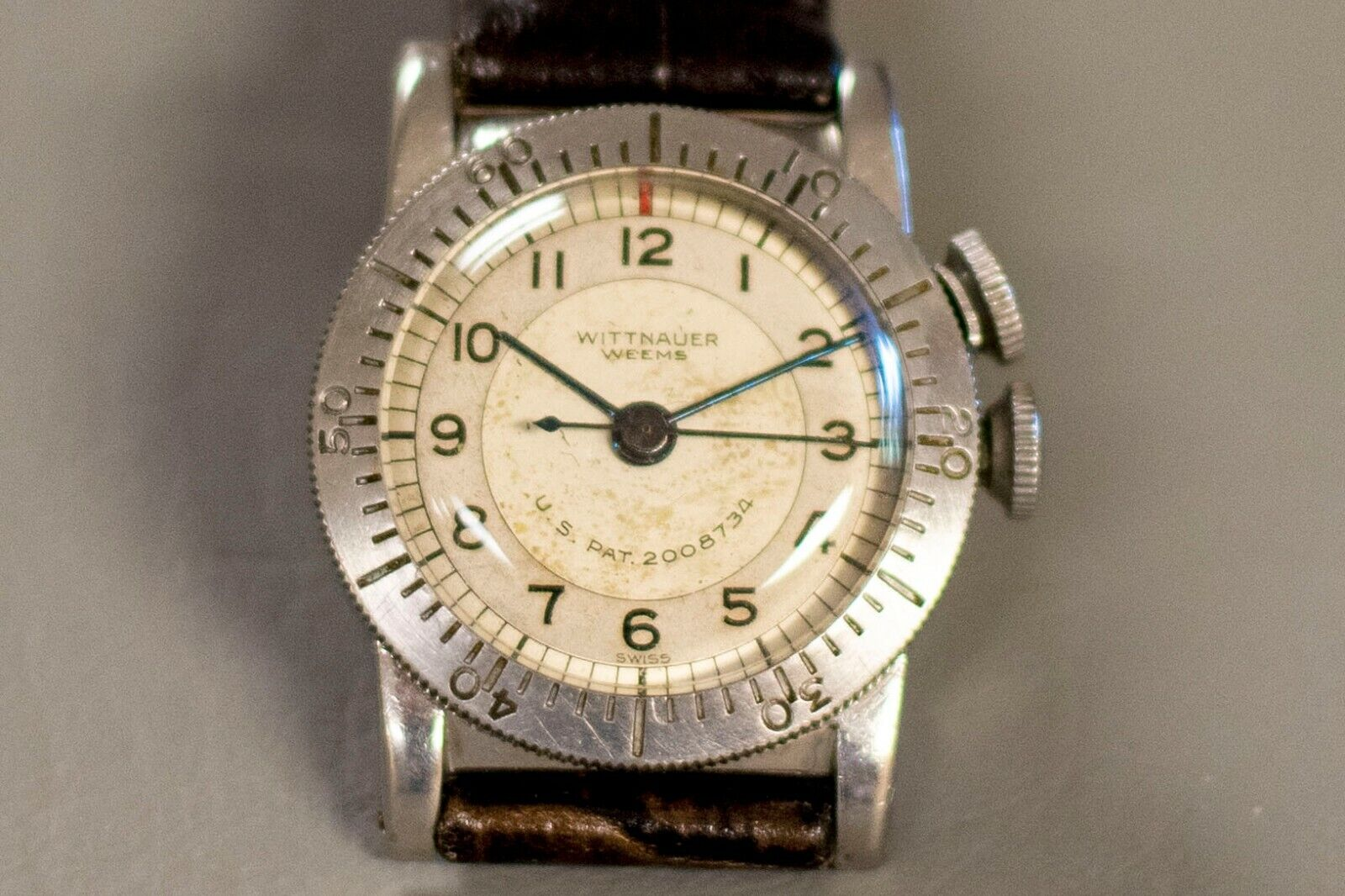 Vintage WWII era Longines Wittnauer Weems Pilot Watch 1940s