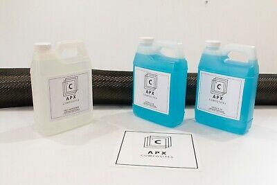3 Yrd Carbon Fiber Fast Epoxy Uv Resin Kit 96oz 34 Gallon - 2x2 Twill