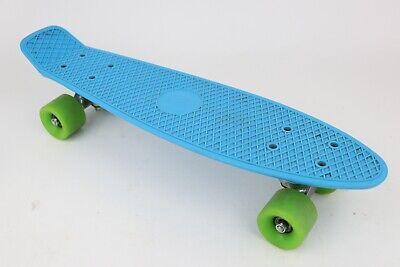 "Fish Skateboards NZ Blue Plastic 22"" Cruiser Penny Style Short Board Skateboard"