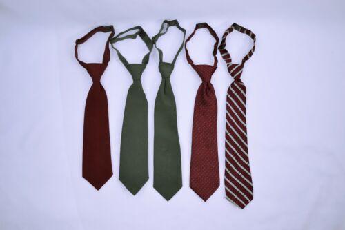 Challenger School Uniform Boys Oxford Ties (5 Pre-Tied Ties)