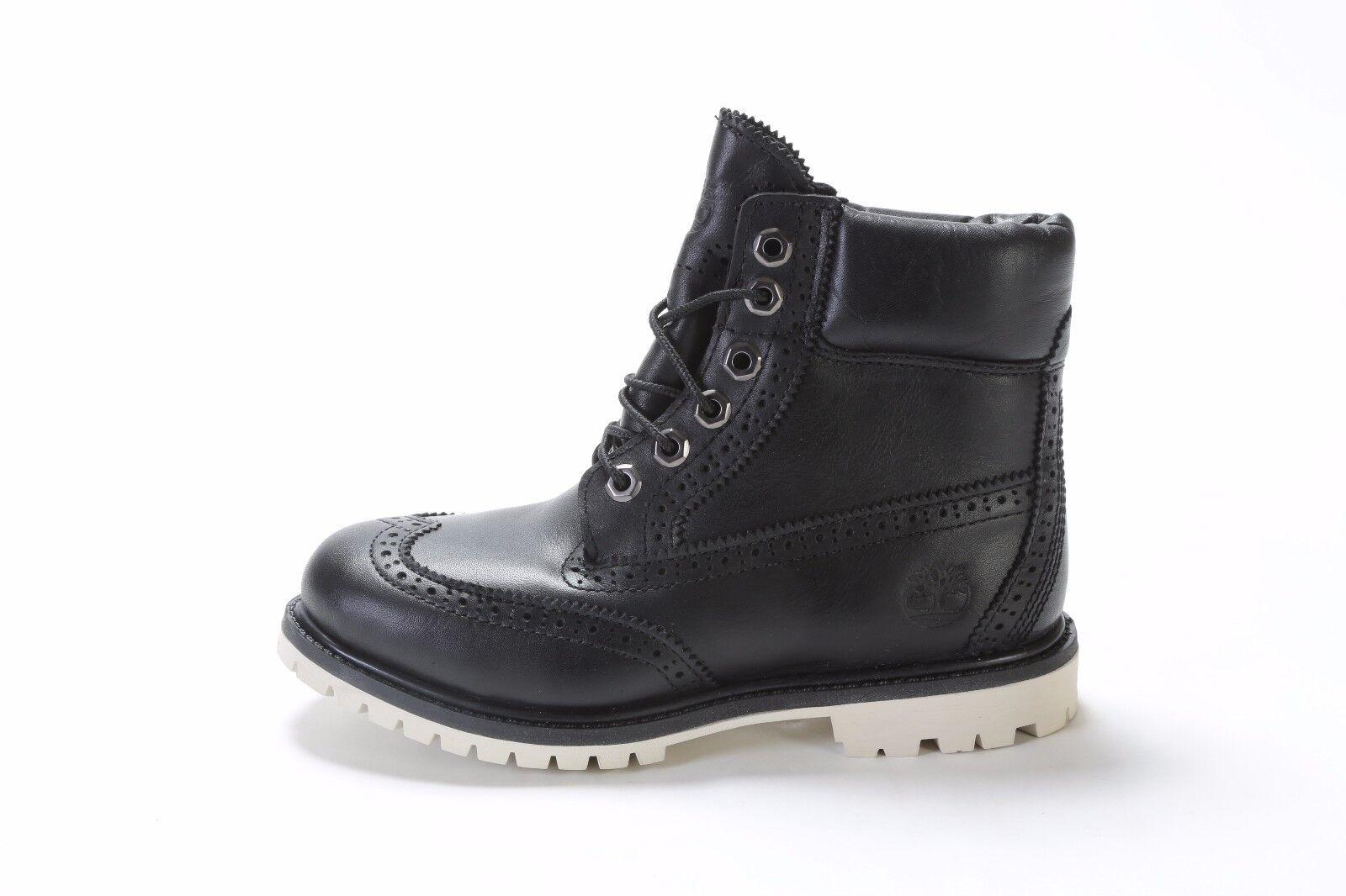 "TIMBERLAND WOMEN'S 6"" PREMIUM BROGUE BOOTS (M) A1G75 BLACK (msrp: $220)"