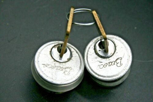 """2 Keyed Alike Commercial Solid Brass 5 Pin Door Lock 1"""" Cylinder with 2 Keys"""