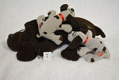 VTG 1985 Pound Puppy/Puppies LOT 1 large, 2 small (33)