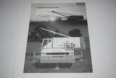 Link-belt 138a 218a 238a 258 Wire Rope Truck Cranes Performance Sales Brochure