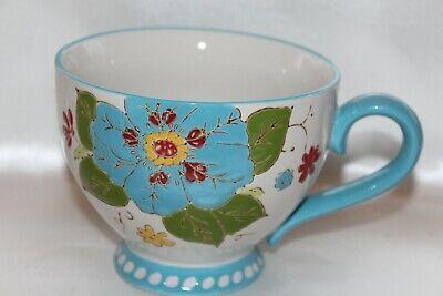 DUTCH WAX Blue Footed Large 16 oz Hand Painted Collectible Coffee Tea Mug Cup - Blue Footed Mug
