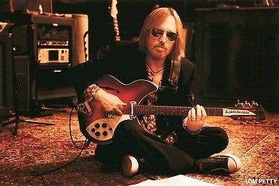 TOM PETTY SITTING WITH GUITAR POSTER NEW  !