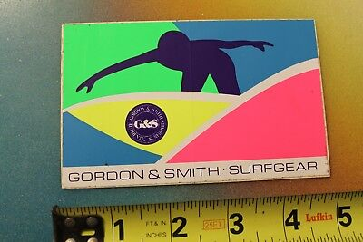 G/&S Surfboard sticker surfing decal surf  Gordon And Smith Longboard