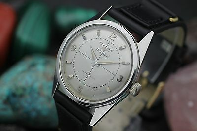 C. 1956 LONGINES Automatic Cal. 19A Cross-Hair Dial Stainless Steel Men's Watch