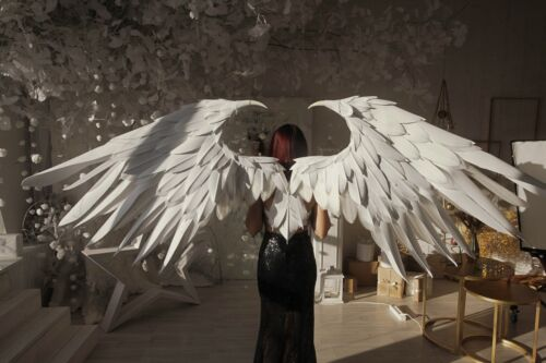 Large white Heaven Christmas Angel wings/transform in 2 poses/Cosplay Costume