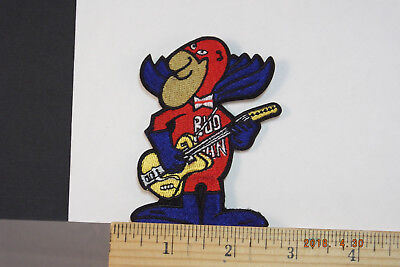 BUDWEISER Rock&Roll Guitar BUD MAN BEER EMBROIDERED IRON-ON PATCH 3.5x2.5""