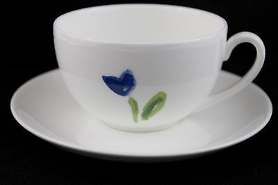 NEW Anna's Artistry China by Crate and Barrel Floral Coffee Tea Cup and Saucer