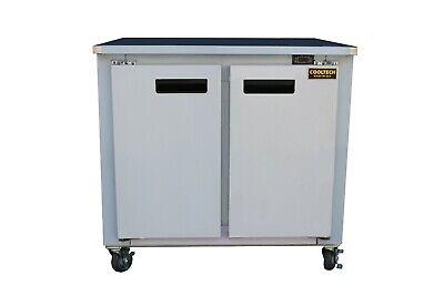 Cooltech 2-door Worktop Refrigerator Low Boy Cooler 36